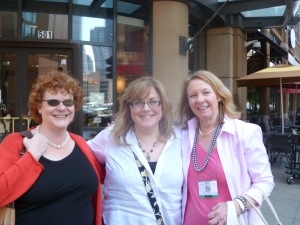 2011—Pamela Toler (author, critique partner, and dear friend), me, and Meg. That was a fan-girl day for me. Just ask Pamela. (Although I believe I behaved like a lady.)