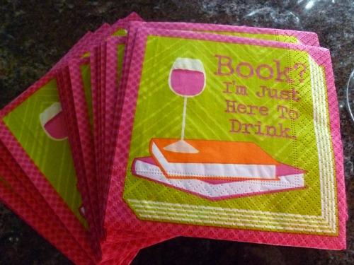 Best book launch napkin ever!