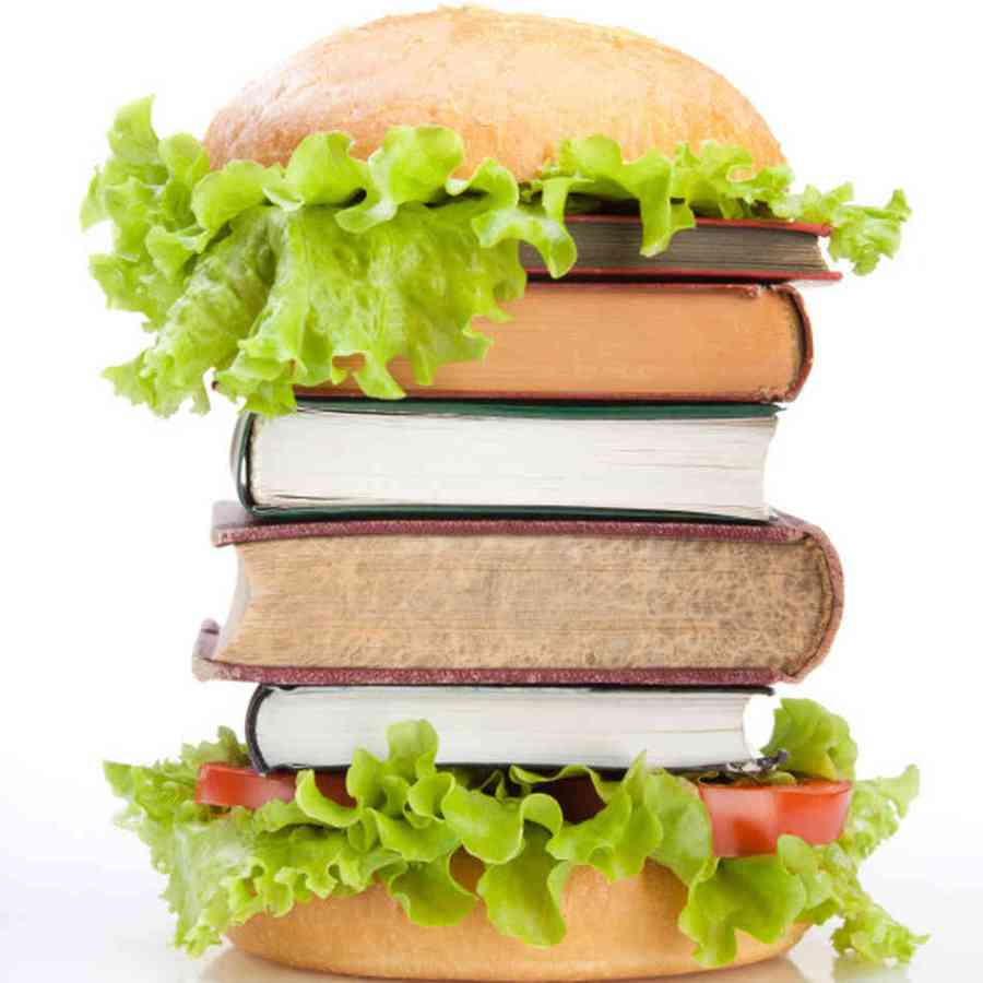 Image result for food and books